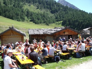 Lunch at an alpine pasture