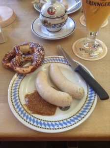 Bavarian Pretzel, Sausage and Wheat Beer