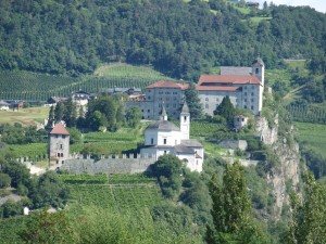 Ancient abbey & vineyards in North Italy