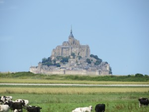 Mont St Michel in Western France